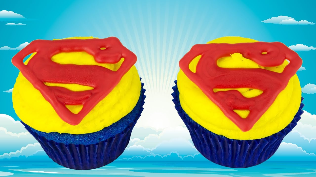 Superman Cupcakes Man of Steel by Cookies Cupcakes and Cardio