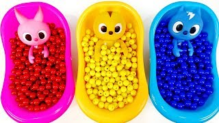 Learn Colors With Mini Force & Slime Bathtub, Surprise Eggs ...