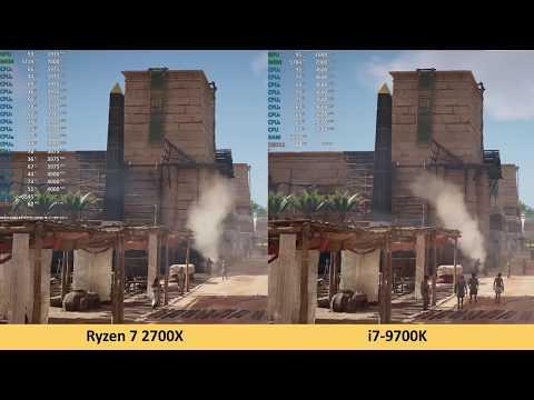 Ryzen 7 2700X vs i7-9700K - 2160p 4K Benchmark Test