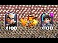 ¡¡100 ARQUEROS MÁGICOS vs 100 PRINCESAS!! ¿QUIÉN GANARÁ? Enfrentamientos Clash Royale - [Rubikay]