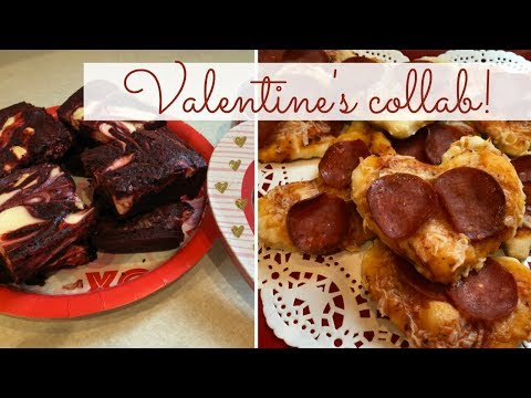 valentine's-collab-|-red-velvet-brownies-&-mini-heart-pizzas