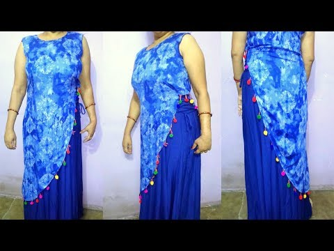 Designer kurti drafting, cutting and stitching easy step by step tutorial
