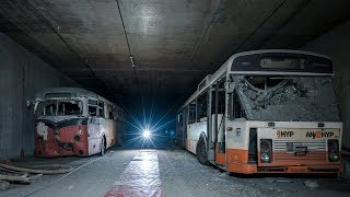 Abandoned Ghost Bus Tunnel Deep Underground