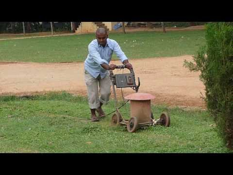 Indian Antique Electric Lawn Mower - Mysore India 2008