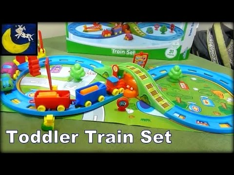 kid connection 30 piece train track set for kids review. Black Bedroom Furniture Sets. Home Design Ideas