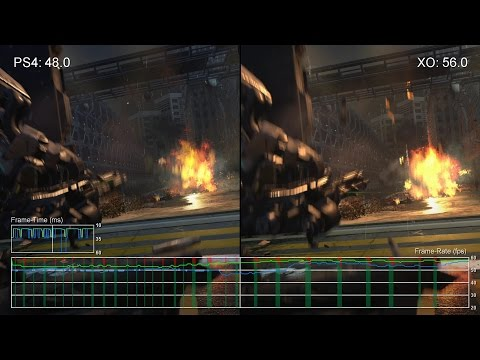 [60fps] Call of Duty: Advanced Warfare PS4 vs Xbox One Campaign Frame-Rate Test (Part Two)