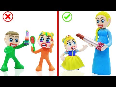 SUPERHERO BABY COLORS LIPSTICK MAKEUP 馃挅 Animation Cartoons Play Doh