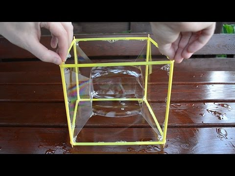 Amazing Cube Bubble - Square Bubble Experiment