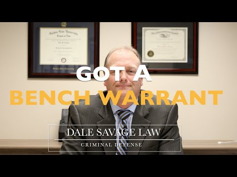 Got A Bench Warrant?  Now What? | Charleston, South Carolina Criminal Defense Attorney