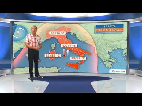 Weekend bollente in tutta Italia sia di giorno che di notte
