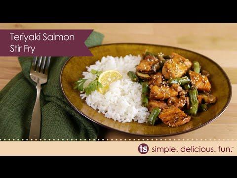 Teriyaki Salmon Stir Fry