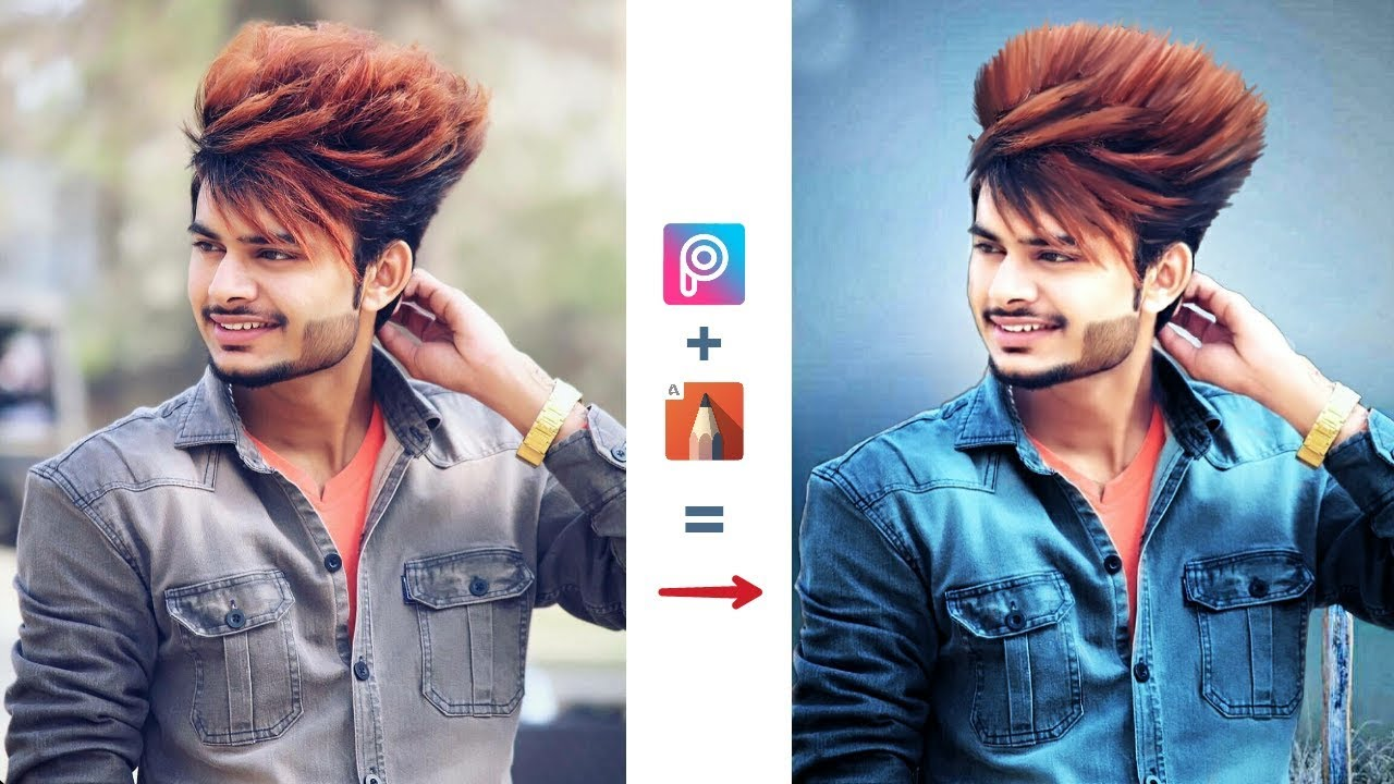 Normal Photo In To Stylish Photo Step By Step Hairstyle Editing