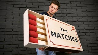 HANDMADE GIANT MATCHBOX THAT CAN BE USED