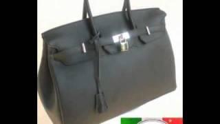 Classic borsa bag Birkin lusso nera DELUCA&PELLI MILANO