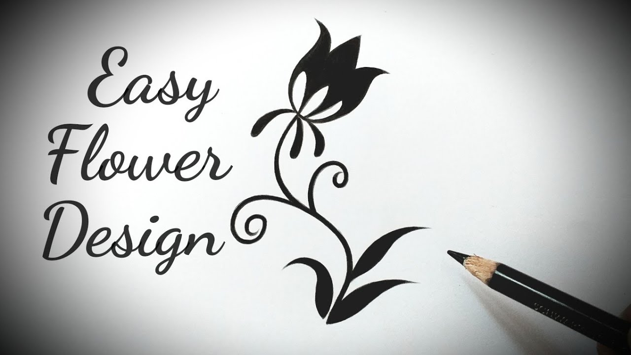 how to draw a flower design easy on paper step by step ...