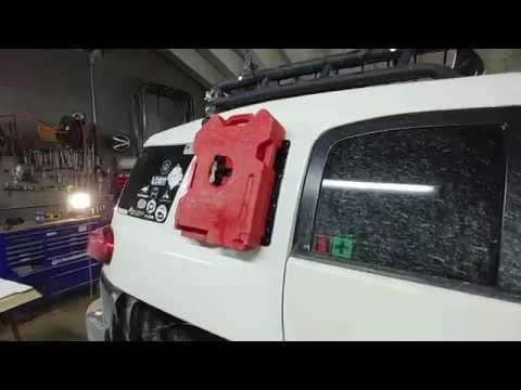 Fj Cruiser Rotopax Jerry Can Gas Tank Mod Youtube