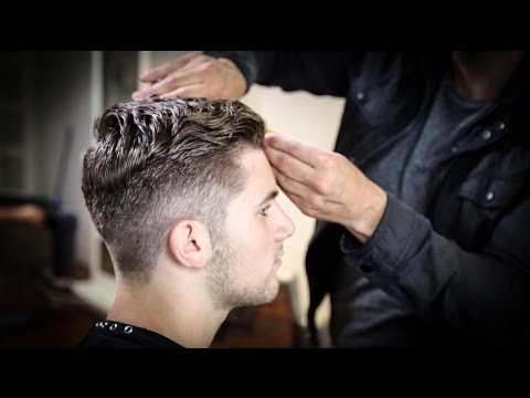 College Haircut For Guys | Thick Wavy Combed Back Haircut Tutorial | MATT BECK VLOG 63