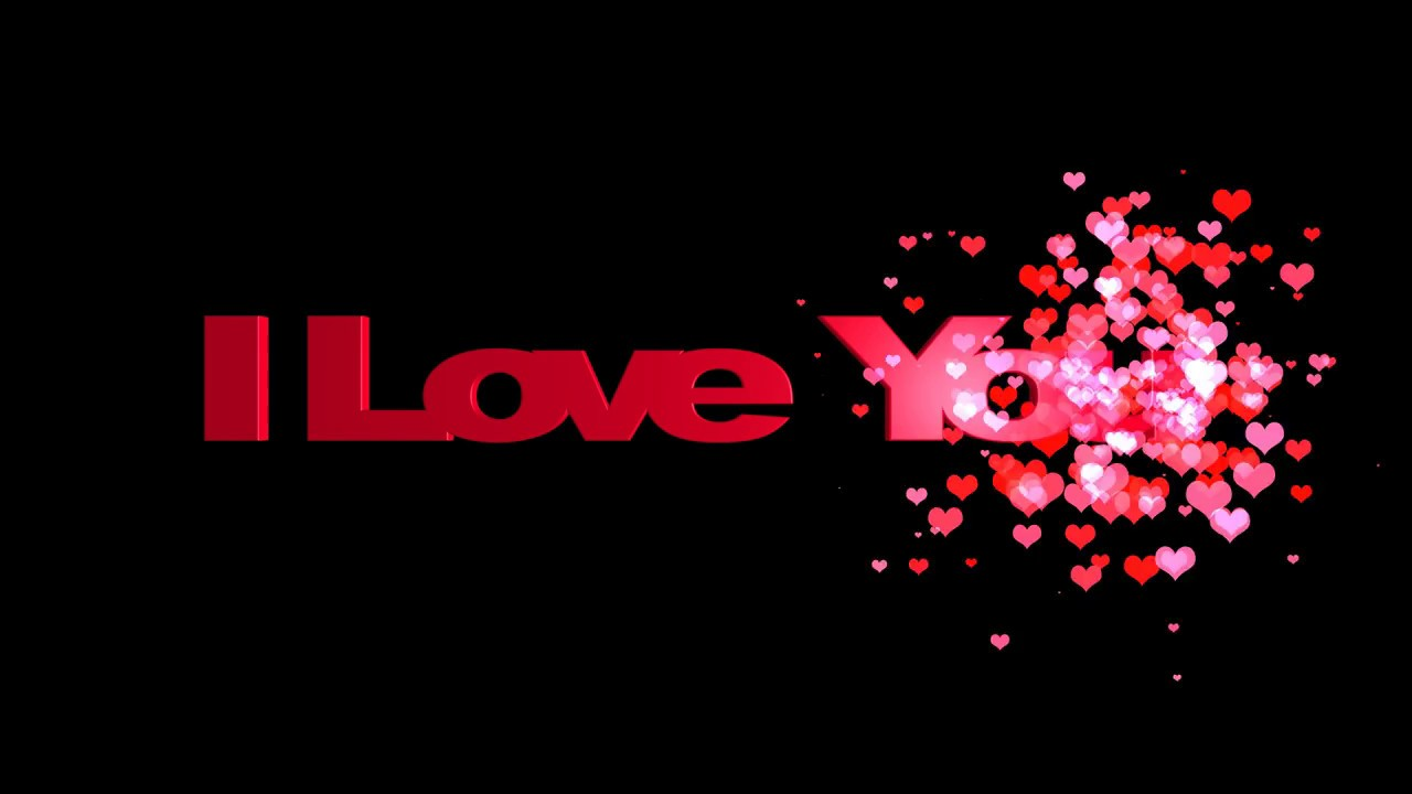 HD I Love You Animated Text Message - YouTube