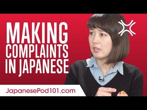 Making Complaints in Japanese (Việt Sub)