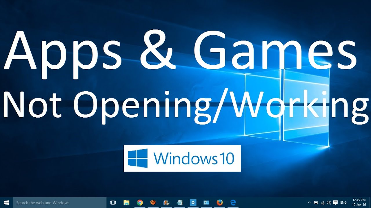 Why do not games open
