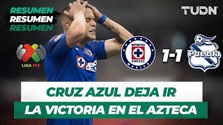 Resumen y Goles Cruz Azul 1 - 1 Puebla | Liga MX -  Apertura 2019  - Jornada 6 | TUDN