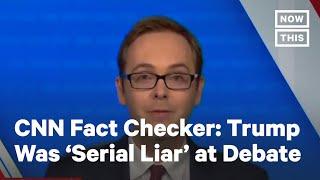 Trump Was 'Serial Liar' at Final Debate, CNN Fact Checker Says | NowThis