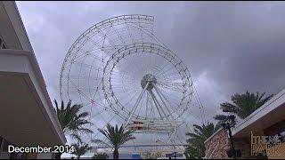 The Orlando Eye Construction Update December 2014 | Orlando Florida I-drive 360