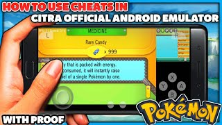 How To Use CHEAT CODES In Official Citra Android Emulator For Pokemon 3DS Roms & More!