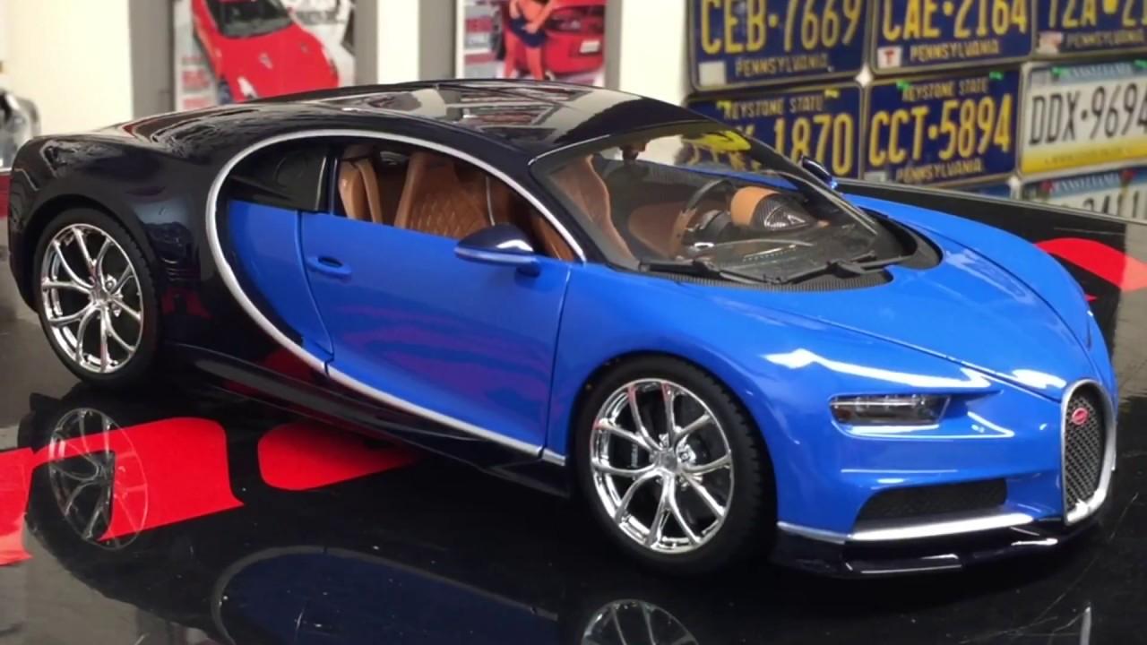 2017 bugatti chiron diecast model 1 18 scale youtube. Black Bedroom Furniture Sets. Home Design Ideas
