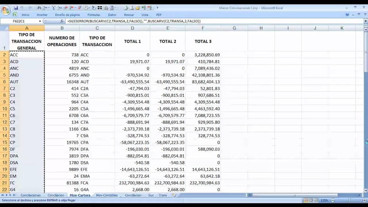 Macro en Excel para conciliar archivos de cartera vs contabilidad ...