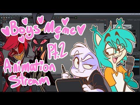 BOYS Meme Animation Stream Ft. Michael Kovach and Vivziepop Pt. 2