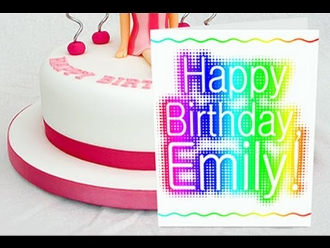 Photoshop Tutorial: Make a Birthday Card with Custom Text to Print!