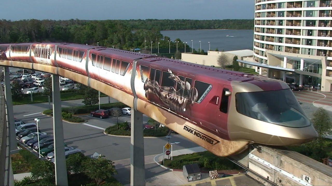 marvel iron man 3 monorail debuts at walt disney world 1080p hd