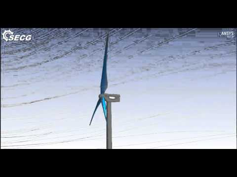 FSI Simulation of Turbine Blade Deflection and Stress