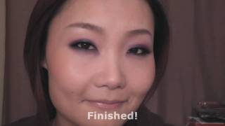 Sultry Purple & Blue Makeup Look For Monolids 单眼皮性感蓝紫烟熏妆 Thumbnail