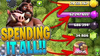HUGE TH13 GEMMING AND SPENDING SPREE! - Clash of Clans