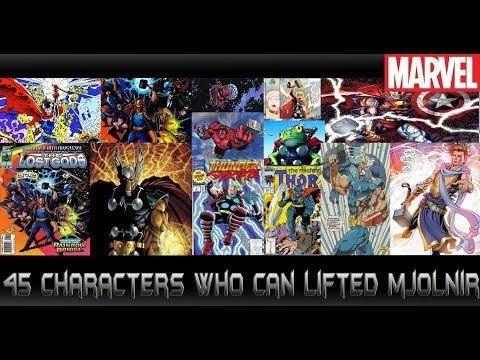 45คนที่สามารถยกค้อนสายฟ้าMjolnir ได้ - Comic World Daily