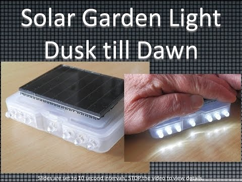 Solar Garden Light Dust Till Dawn With 7 Leds Youtube
