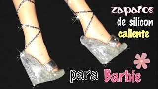 Zapatos de silicon caliente para barbie