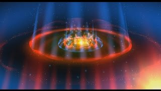 60fps Digital Space Dome Fire Rings Animation 4K Cinematic Moving Background