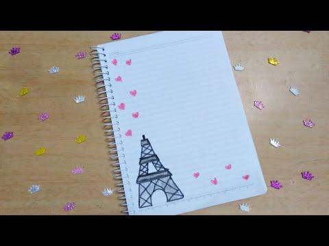 تزين دفتر على شكل برج ايفل 🗼🗼❤️