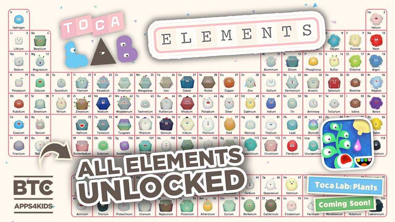 Toca Lab Elements All Unlocked Toca Lab Plants Teaser Youtube