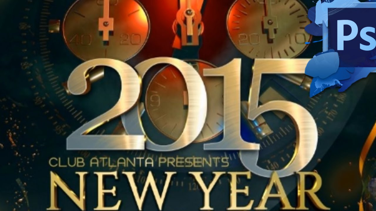New Year Bash Flyer Photoshop Template Youtube