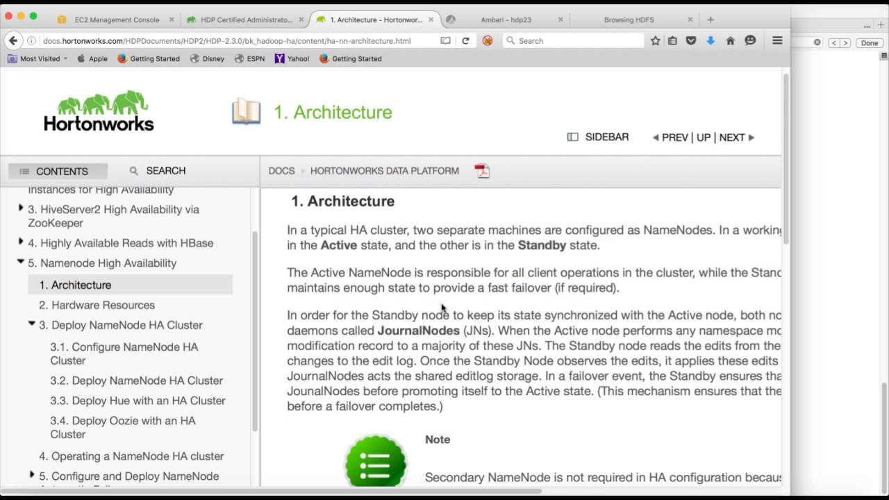 Hadoop Certification Hdpca 01 Configure Namenode Ha Youtube
