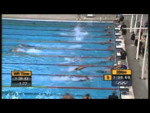 2000 - 4x100m freestyle relay final at the Sydney Olympics.