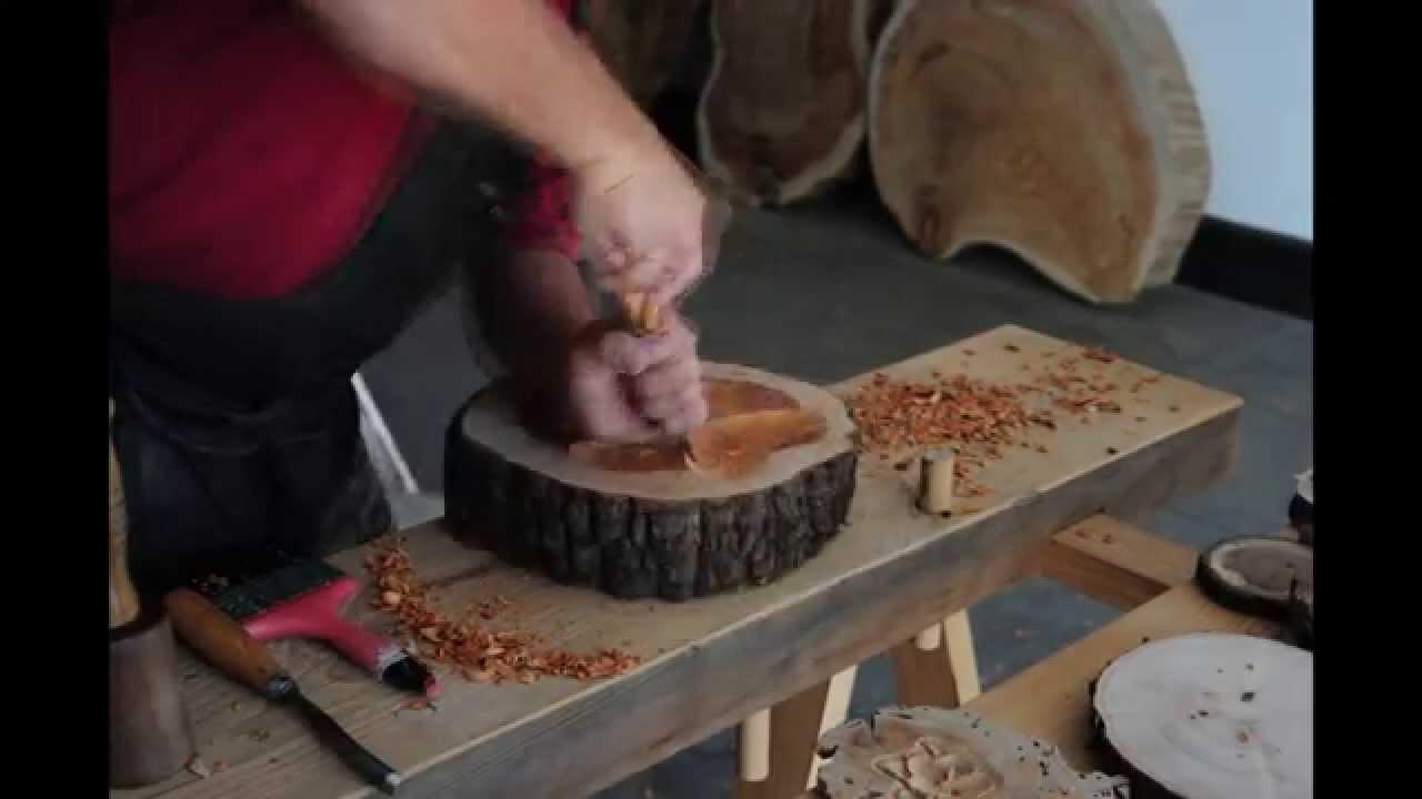 timelapse talla en rodaja de madera  YouTube