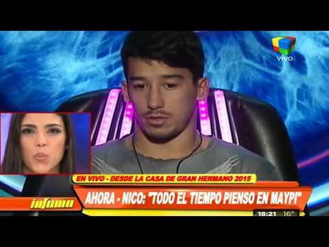 María Paz escucha en vivo el mensaje de amor de Nicolás
