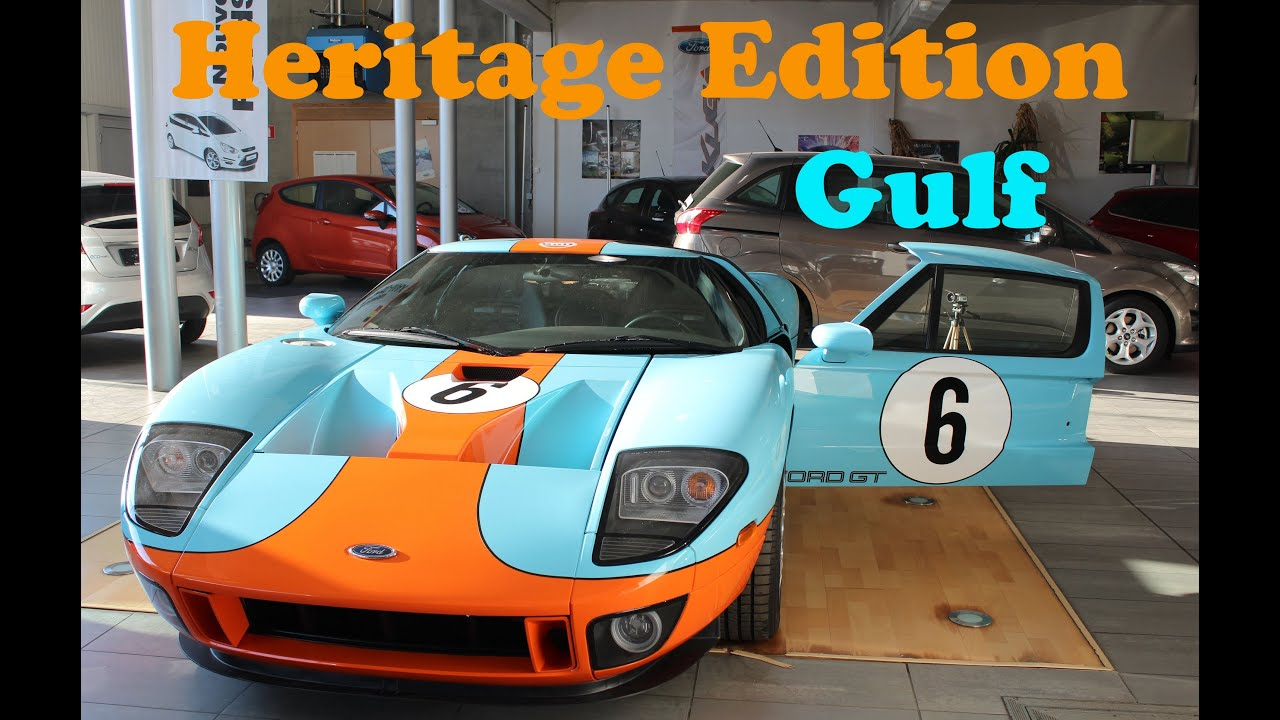 Ford Gt Gulf Heritage Edition Startup Revs Shoot
