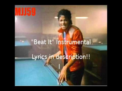 Michael Jackson  Beat It Instrumental with Backup Vocals LYRICS IN DESCRIP