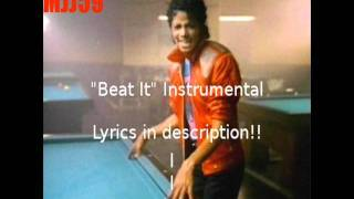 Michael Jackson - Beat It (Instrumental with Backup Vocals) LYRICS IN DESCRIP.